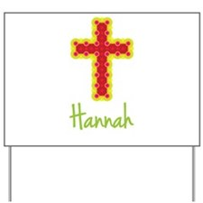 Hannah Bubble Cross Yard Sign