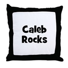 Caleb Rocks Throw Pillow