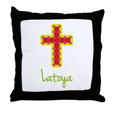 Latoya Bubble Cross Throw Pillow