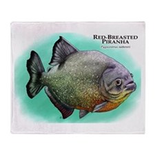 Red-Breasted Piranha Throw Blanket