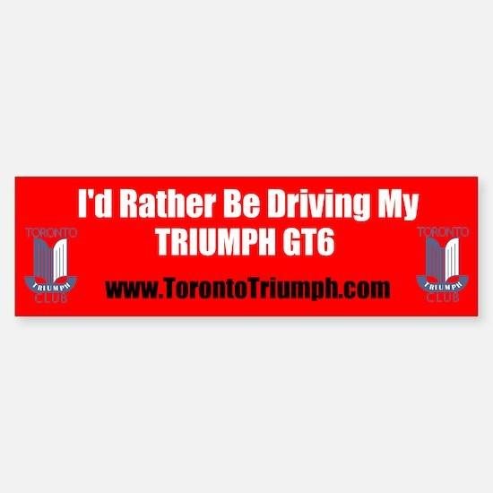 Toronto Triumph Club GT6 Bumper Bumper Bumper Sticker