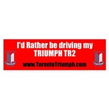 Toronto Triumph Club TR2 Bumper Sticker
