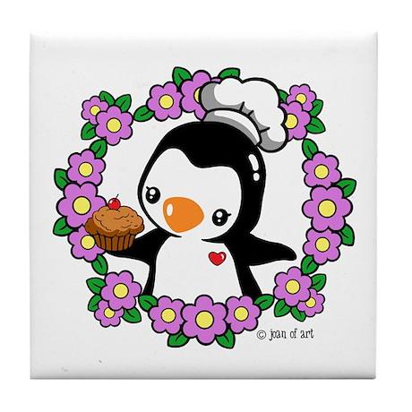 Pretty Penguin (4) Tile Coaster