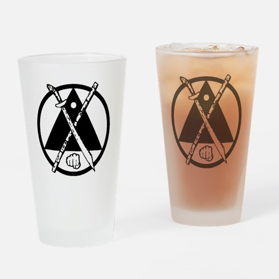 Escrima/Arnis logo Drinking Glass