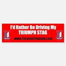 Toronto Triumph Club STAG Bumper Bumper Bumper Sticker
