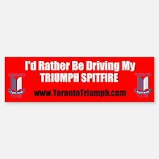 Toronto Triumph Club Spitfire Bumper Bumper Bumper Sticker