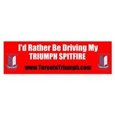 Toronto Triumph Club Spitfire Bumper Bumper Sticker