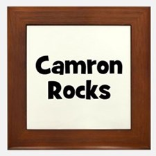 Camron Rocks Framed Tile