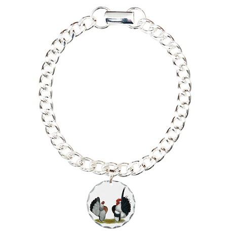 Serama Bantams Charm Bracelet, One Charm
