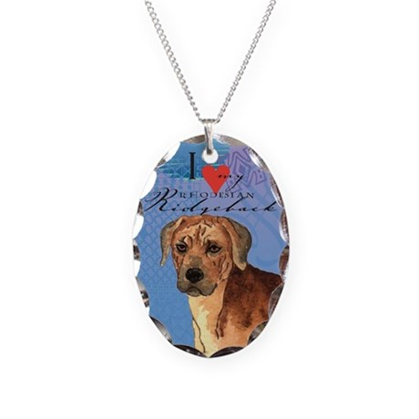 Rhodesian Ridgeback Necklace Oval Charm