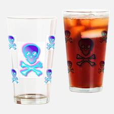 Rainbow Skull Drinking Glass