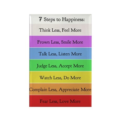 7 Steps to Happiness Magnet