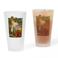 Art Nouveau Bicycle Drinking Glass