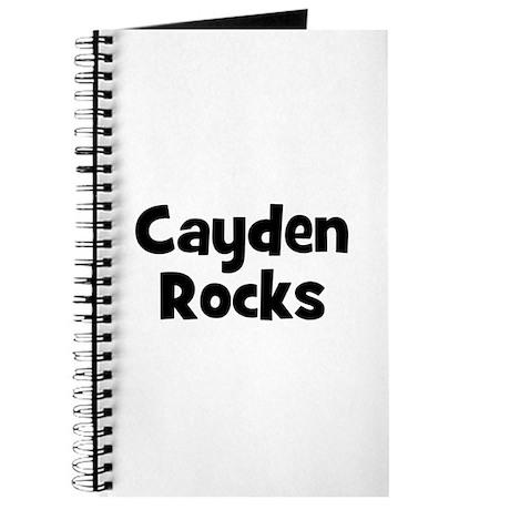 Cayden Rocks Journal