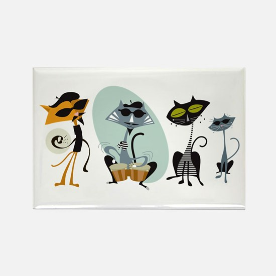 Cool Cats and Kits Rectangle Magnet