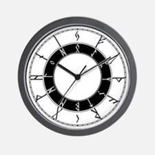 24 Hour Runic Wall Clock