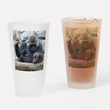 I LOVE GORILLAS Drinking Glass