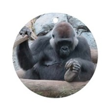 I LOVE GORILLAS Ornament (Round)