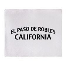 El Paso de Robles California Throw Blanket
