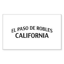 El Paso de Robles California Decal