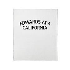 Edwards AFB California Throw Blanket
