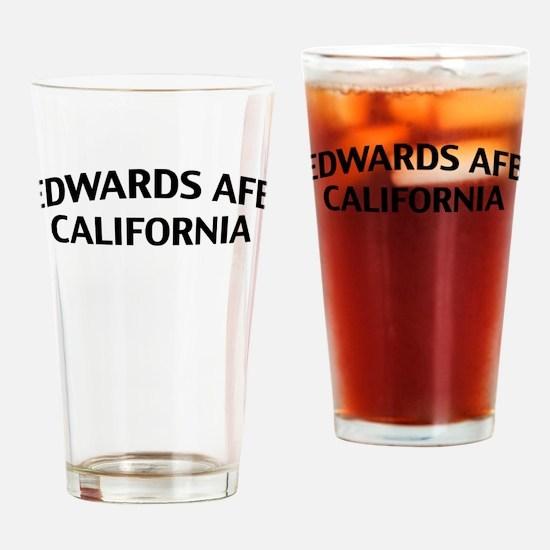 Edwards AFB California Drinking Glass