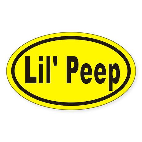 Lil' Peep Euro Oval Sticker