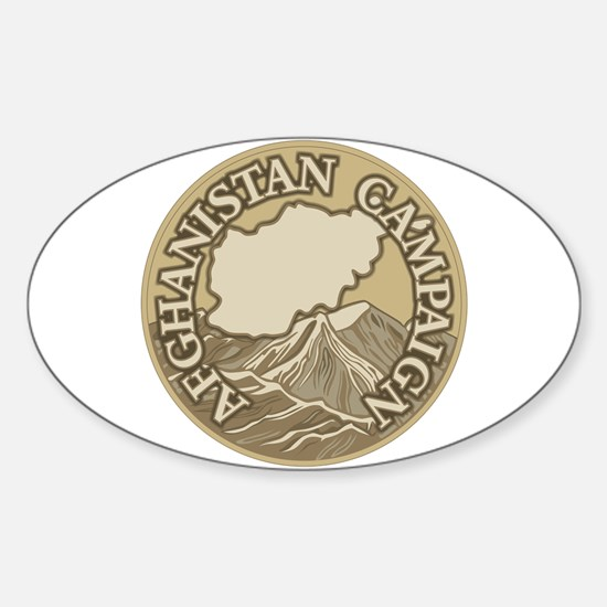 Afghanistan Campaign Sticker (Oval)