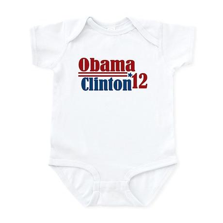 Obama Clinton 2012 Infant Bodysuit