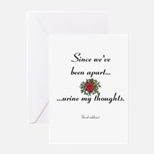 Break up - Urine my thoughts Greeting Card