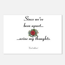 Break up - Urine my thoughts Postcards (Package of