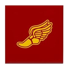 Track foot - red and gold Tile Coaster