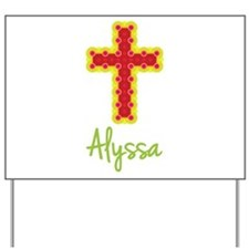 Alyssa Bubble Cross Yard Sign