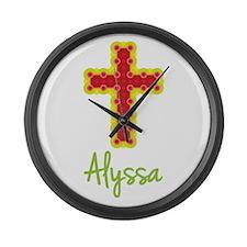 Alyssa Bubble Cross Large Wall Clock