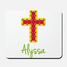 Alyssa Bubble Cross Mousepad