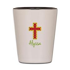Alyssa Bubble Cross Shot Glass