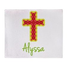 Alyssa Bubble Cross Throw Blanket