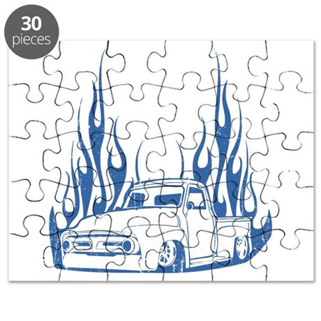 Flamed 56 Pickup Truck Puzzle