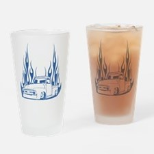 Flamed 56 Pickup Truck Drinking Glass