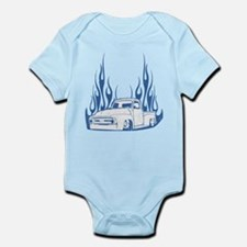 Flamed 56 Pickup Truck Infant Bodysuit
