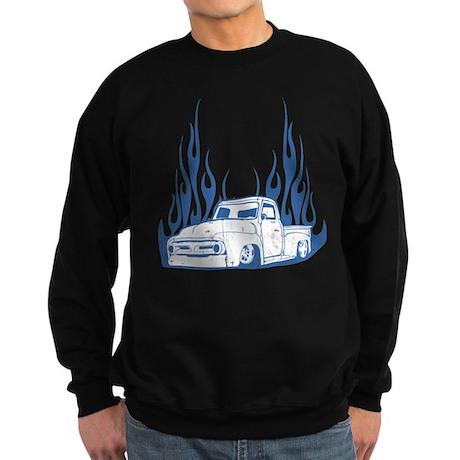 Flamed 56 Pickup Truck Sweatshirt (dark)