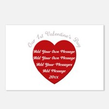 Our 1st Valentine's Day Postcards (Package of 8)