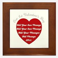 Our 1st Valentine's Day Framed Tile