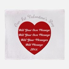 Our 1st Valentine's Day Throw Blanket