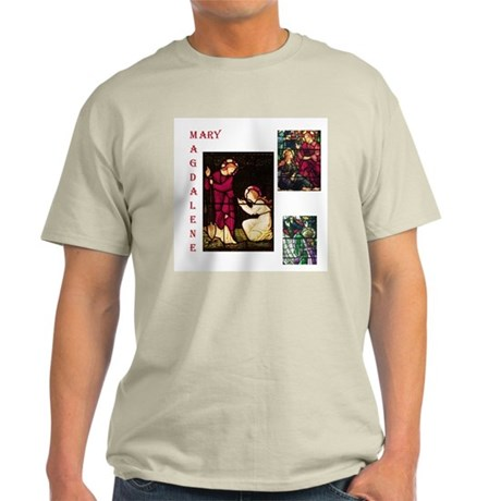 Mary Magdalene Stained Glass Ash Grey T-Shirt
