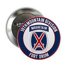 "10th Mountain Ft Drum 2.25"" Button"