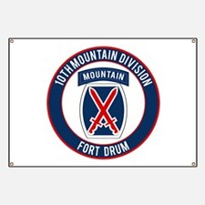 10th Mountain Ft Drum Banner