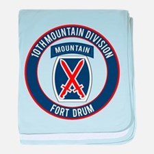 10th Mountain Ft Drum baby blanket