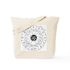 circle of fifths, kwint circle Tote Bag
