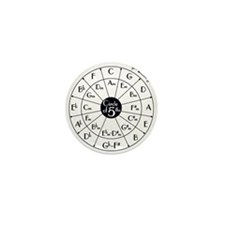 circle of fifths, kwint circle Mini Button